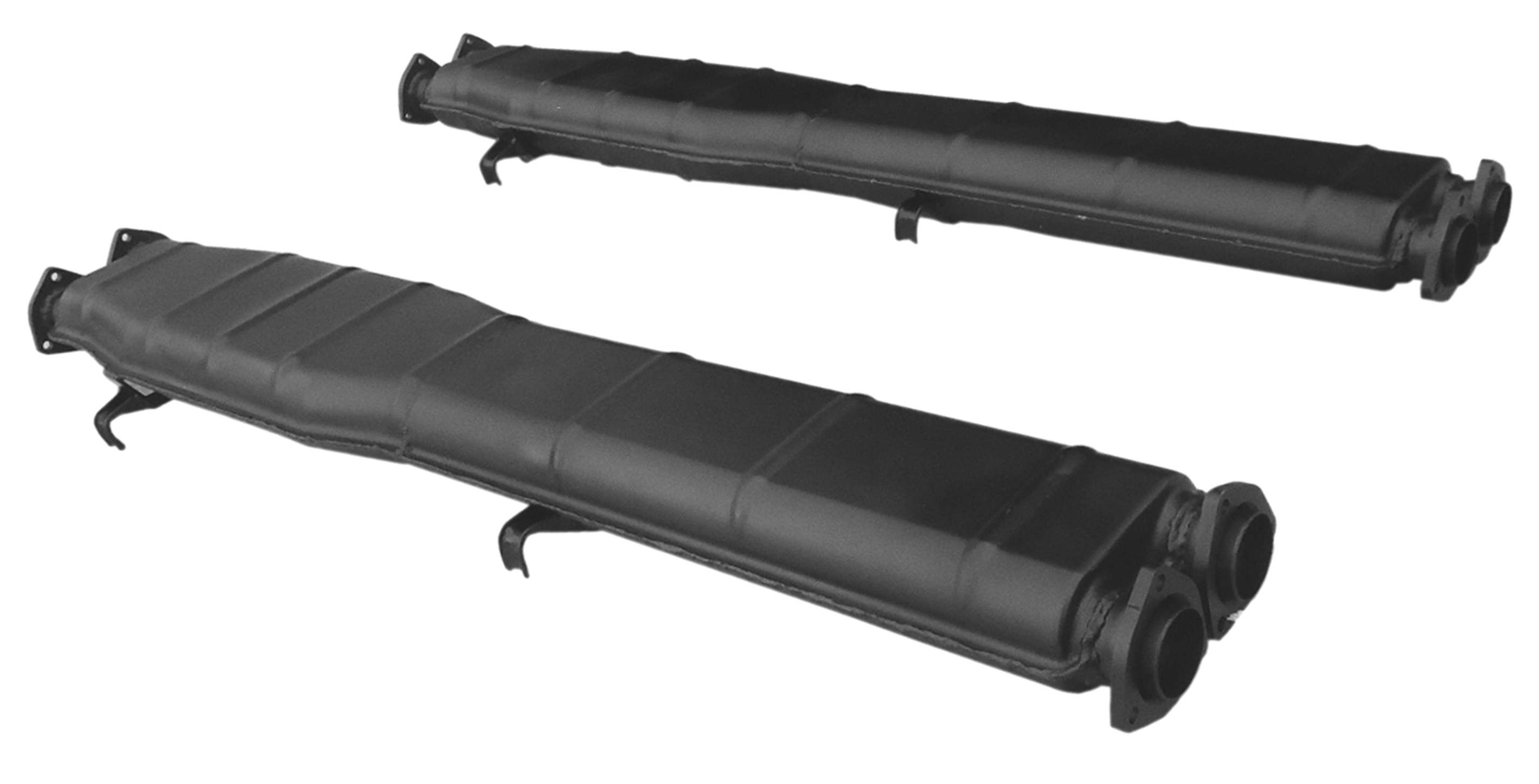 CENTRE AND REAR SILENCERS