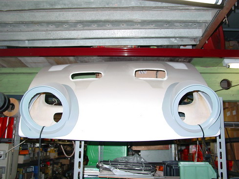 Front bonnet polyester
